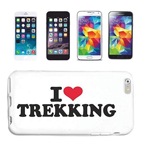 Bandenmarkt hoes voor mobiele telefoon compatibel met Samsung Galaxy S3 I Love Trekking Mountainbike Wandelen Marathon TREKKINGS Fiets Hardcase Beschermhoes Mobiele telefoon Cover Smart Cover