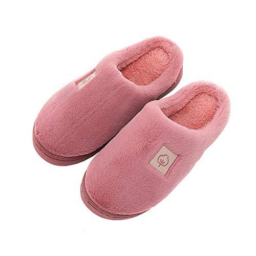 Slippers Termicas Zapatos,Media almohadilla de felpa con trapeador de algodón, zapatos de...