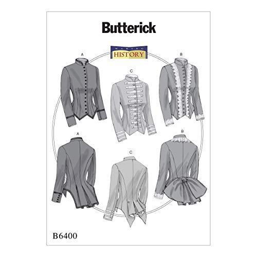 Butterick Patterns Butterick 6400A5Schnittmuster Kostüm, Mehrfarbig, Größen 6–14