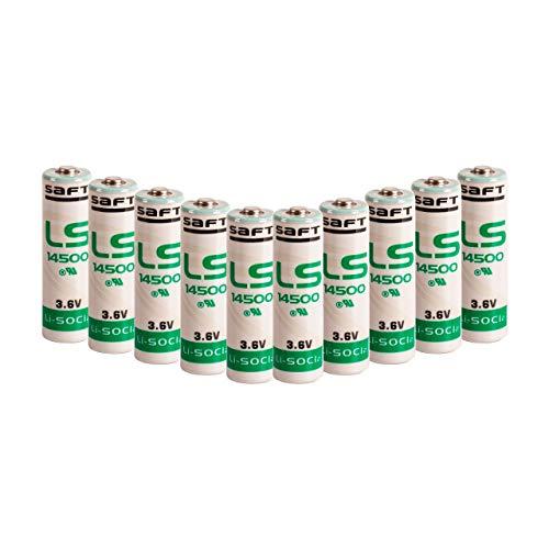 Saft 10er Pack LS14500 3,6V AA Batterien