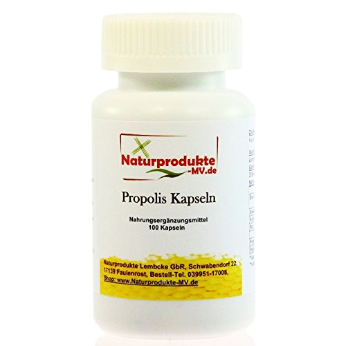 Propolis Kapseln (100 Stk.) Propoliskapseln NEUE Rezeptur Vegi Kapseln