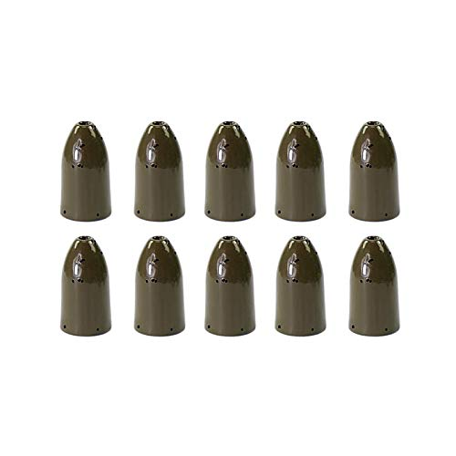 Croch 10 Pack 3/8OZ Tungsten Bullet Worm Weight for Bass Fishing Pitching and Flipping Sinker
