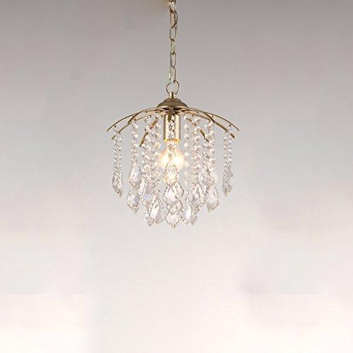 DEI QI lustre américain de style village, créatif unique tête lampe de plafond d'art en cristal transparent, simple table chambre couloir balcon décoré lampe suspendue, lustre en cristal pompon de lux