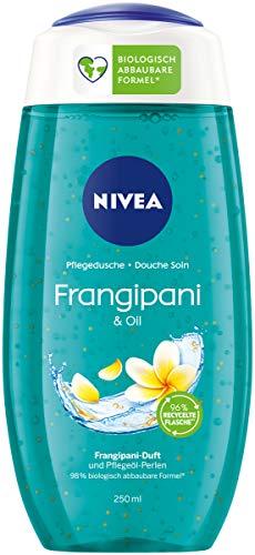 NIVEA Pflegedusche Frangipani & Oil (250 ml), erfrischendes Duschgel mit Pflegeöl-Perlen, verwöhnende Dusche mit zartem Frangipani-Duft