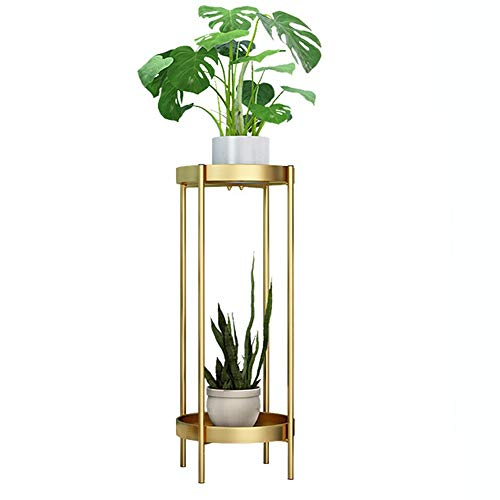Plant Stand Gold Metal Plant Stands bloempot houder decoratieve Indoor Balkon Decorontwerp Beweegbare Multilayer Plant Stand Display Stand (Color : Gold, Size : 25x80cm)
