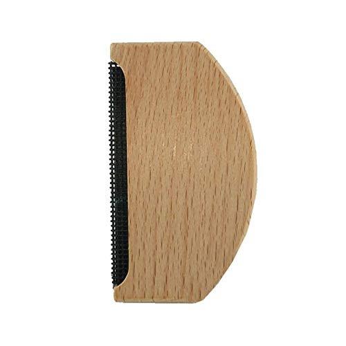 Star Eleven Rasierhaarentferner Abisolierzange aus Holz für Kleidungsstücke, Anti-Pilling Manuelle Pulloverbürste