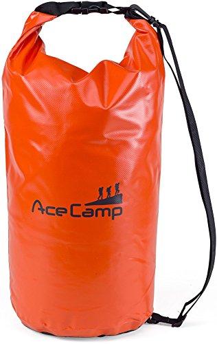 AceCamp - Sac à dos étanche flottant avec sangle de transport, Orange, 30 l