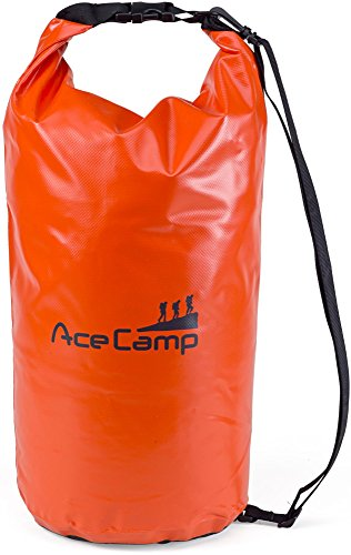 AceCamp - Sac à dos étanche flottant avec sangle de transport, Orange, 10 Liter