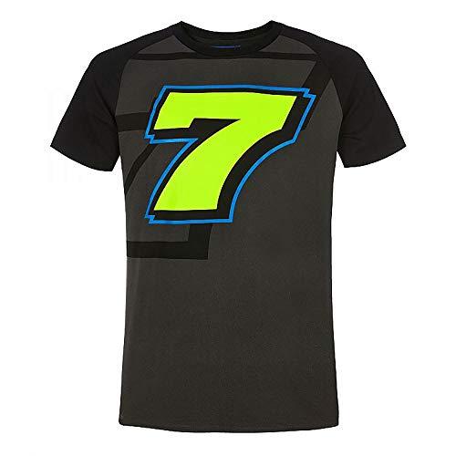 Valentino Rossi VR46 Lorenzo Baldassarri, T-Shirt pour Homme, Homme, LBMTS366420002, Gris foncé, M