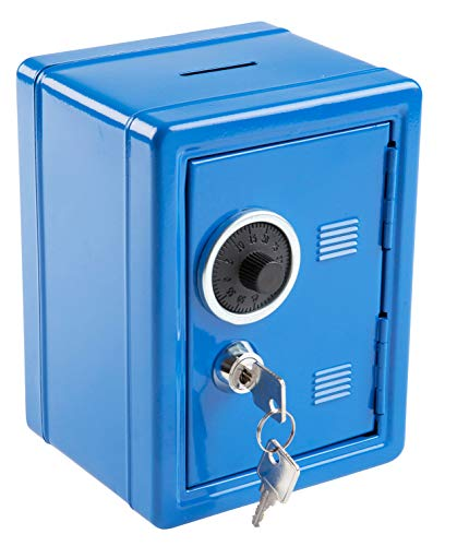 Idena 50036 - Spartresor, Größe 120 x 105 x 160 mm, Farbe Blau, 1 Stück