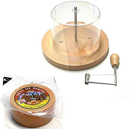 Tete de Moine Käsehobel Set halber Laib und Haube