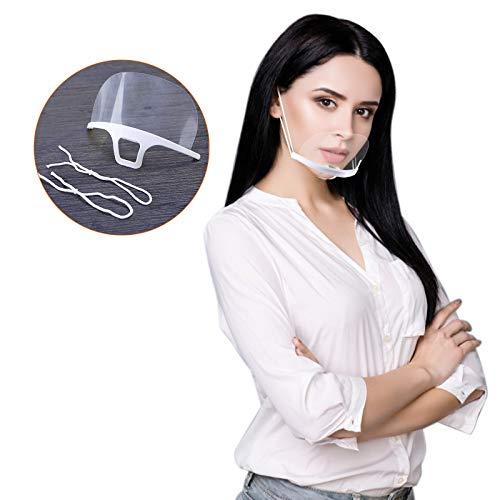 100 Stück Mund Gesichtsschutz aus Kunststoff Gesichtsschild Schutzschild Schutzvisier Visier Anti-Saliva Anti-Fog Splash