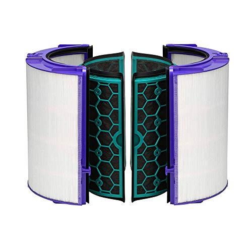 TeKeHom TP04 Filter für Dyson DP04 HP04 Pure Cool Purifier Fan Glas HEPA Filter & Innen Aktivkohlefilter Ersatz für 969048-02
