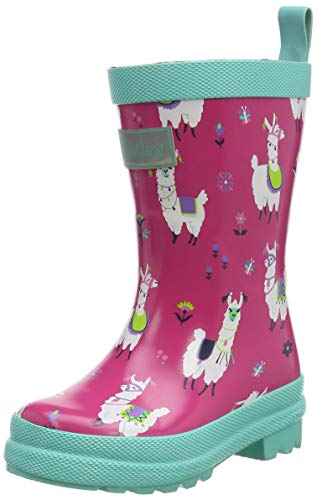 Hatley Mädchen Printed Wellington Rain Boots Gummistiefel, Hübsche Alpakas, 27 EU