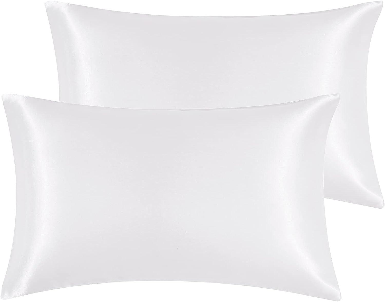 Hansleep Minneapolis Max 76% OFF Mall Set of 2 Silky Queen Soft Satin Pillowcase Cove Pillow