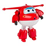 Super Wings - Jett, personaje transformable, 14.5 cm, color rojo y...