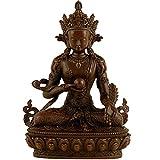 J.Mmiyi Budas Decorativos Pequeños Estatua de Ksitigarbha Figura, Budismo Esculturas Decoración Coche Interior Hogar Y Oficina Adornos,Latón