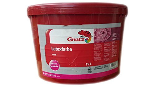 Gnatz Latex Matt Wandfarbe ELF Weiß 15 Liter
