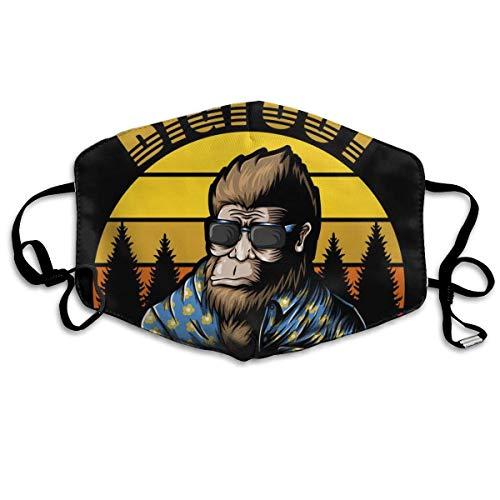 Earloop Half Face gezichtsafdekking Mundabdeckungen stofdicht - Mundabdeckung (Grappige Cooler Bigfoot Sasquatch met zonnebril heeft een beroep nodig zwart)