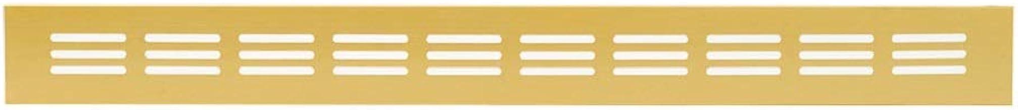 Aluminium ventilatierooster goud 40 x 300 mm brugplaat ventilatie aluminium rooster rooster meubelrooster meubelventilatie