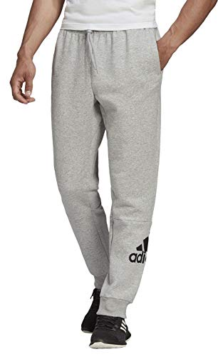adidas Herren Hose MH Bos Pant Fleece, Mgreyh/Black, M, FS4630