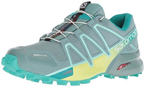 Salomon Women's Speedcross 4 CS W Trail Running Shoe, trellis/sunny lime/atlantis, 6 M US