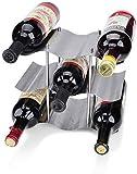 Yaoliangliang Botellero Botellero De Vino De Acero Inoxidable Apilable Botellero De Mostrador 9 Botellas De Vino Metal Moderno 26,5 × 16,5 × 22,5 Cm Botellero