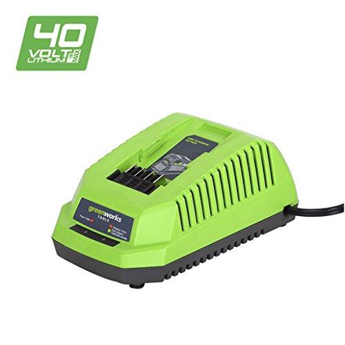 Greenworks Tools Akku-Schnellladegerät G40C (Li-Ion 40 V 4A 60 min Ladezeit bei 2Ah Akku passend für alle Geräte und Akkus der 40 V Greenworks Tools Serie)