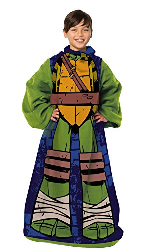 "Nickelodeon's Teenage Mutant Ninja Turtles,""Being Leo"" Youth Comfy Throw Blanket with Sleeves, 48"" x 48"", Multi Color"