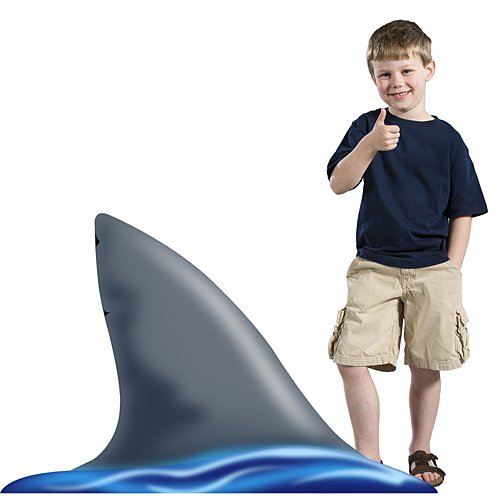 2 ft. 10 in. Sea Ocean Shark Fin Standee Standup Photo Booth Prop Background Backdrop Party Decoration Decor Scene Setter Cardboard Cutout