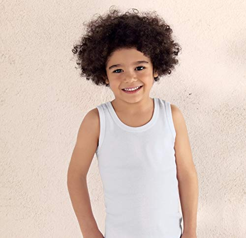 Brix Toddler Boys Girls Tank Top Undershirts White Tagless Super Soft 4 – Pack.