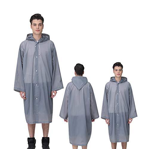 Moent impermeable impermeable unisex para viajes al aire libre de moda para adultos gruesa transparente Evc impermeable al aire libre viaje adulto impermeable grueso transparente