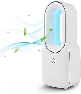 BENEXMART Ventilador Inteligente sin Hojas Tuya con luz Nocturna Colorida USB Alexa Google Home Control Cuidado del bebé de Poco Ruido