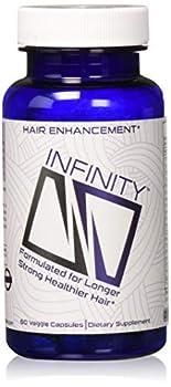 Infinity Hair Growth Vitamins with Biotin for Hair Skin & Nails - Vegan & Non-GMO Capsules for Men & Women - 60 Count