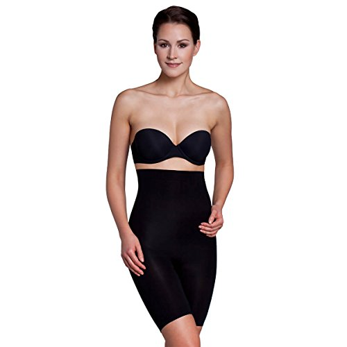 Miss Perfect Shapewear Damen - Miederhose Damen Body Shaper Damen Bauchweg Unterhose Damen Bodyshaper für Frauen - figurformend Schwarz Größe XXL