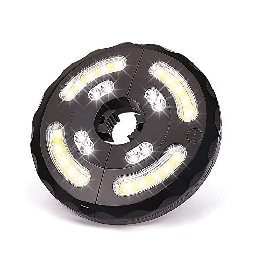 Luces de Sombrilla, Linkax Lámpara para Sombrilla de Terraza 4COB & 8LED con 3 Modos Luz Parasol de Patio Lampe para Cámping, Sombrilla Playa, Jardín, Terraza y Patio USB Recargable
