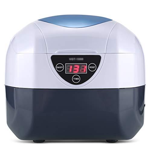 HSRG - Dispositivo de limpieza por ultrasonidos digital, esterilizador para herramientas de uñas con temporizador digital, desinfectador de limpieza para joyas, relojes, pendientes, monedas (0,75 L)