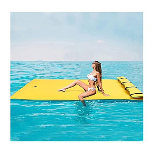 gujiu Almohadilla de Espuma de Estera Flotante de Agua, recreación y relajación para Lagos, océanos, Piscinas, Lirio Gigante para Vacaciones Relajante y recreación, 9'x3 ', Azul-Rojo, Verde Amarillo