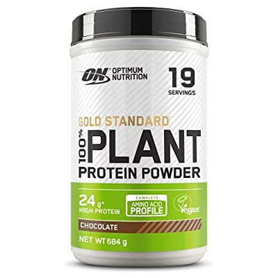 Optimum Nutrition ON Gold Standard 100% Plant Protein, High Protein Vegan Powder, Chocolate, 19 Servings, 684 g, Packaging May Vary