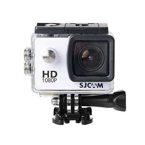 16GB TF Karte + Original SJCAM SJ4000 Sport Action Video Kamera, Full HD 1080P 2,0 Zoll Wasserdicht Sport Action Cam Tauchen DV 30M Camcorder SJCAM Sport DV Audio Recorder(White)