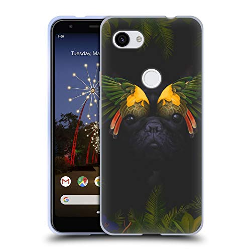 Head Case Designs Officially Licensed Klaudia Senator Bird Feathers French Bulldog 2 Soft Gel Case Compatible with Google Pixel 3a