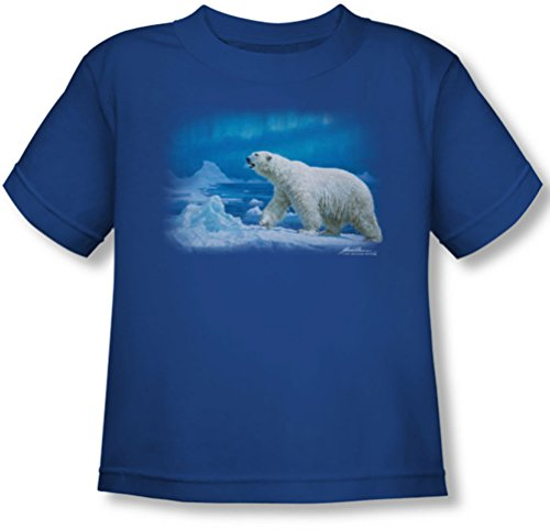 Wildlife - - Toddler Nomad Of The North T-shirt, 4T, Royal Blue