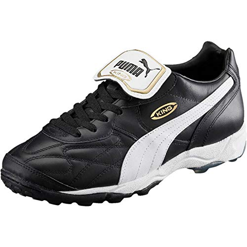 Puma King Allround TT, Scarpe da Calcio Uomo, Nero Black White Gold 01, 43 EU