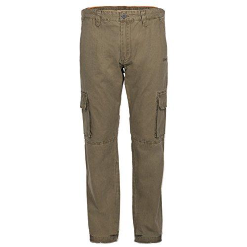 Jeep Pantalon Cargo Trousers J5W Homme, Dark Green, 52