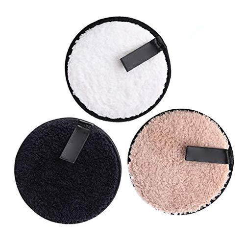 iwobi Coton Démaquillant Lavable, 3 Pièces Tampons Démaquillants Makeup Remover Pads Réutilisable