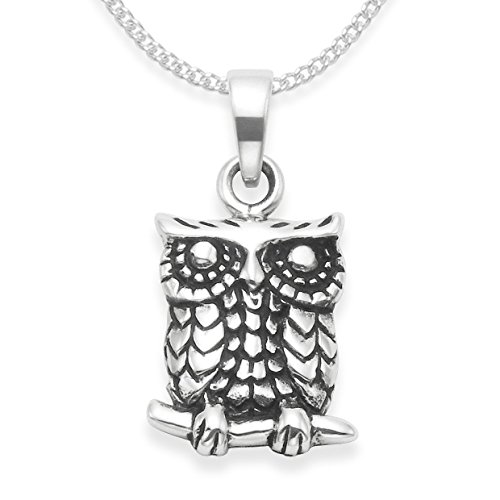Heather Needham Sterling Silver Owl Necklace on 16' Silver chain - Owl Pendant - SIZE: 13mm x 10mm plus loop.NEW LOWER PRICE Gift boxed 4925.