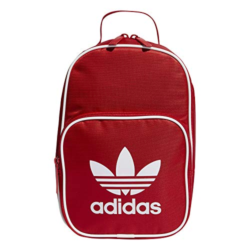 adidas Originals Unisex Santiago Insulated Lunch Bag, Scarlet, ONE SIZE