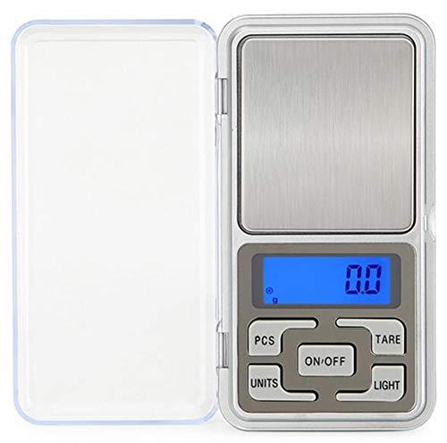 GGKLY kleine elektronische digitale weegschaal, mini-weegschaal, zakweegschaal, precisieweegschaal, voor koken, koffie, drug, sieraden, zilver