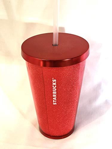 Starbucks Tumbler Becher Cold to go Kaltgetränkebecher Red Glitzer