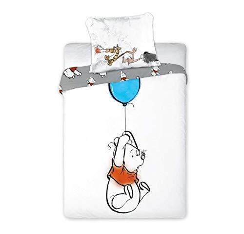 Bettwäsche Kinderbettwäsche Babybettwäsche Disney Winnie The Pooh Deluxe - Kopfkissenbezug: 40 x 60 cm und Bettbezug: 100x 135 cm, 100{8b12bc9e1eb4aa91255ca7e34a445e459fcc6feec2a84427715c852b7a1409b9} Baumwolle - Öko Tex Standard 100 (Winnie 02)